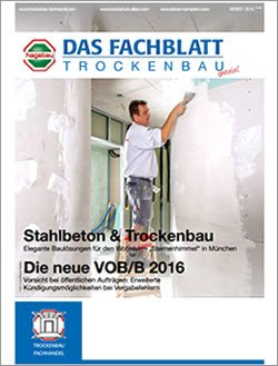 Das Fachblatt Trockenbau Ausgabe 03.2016